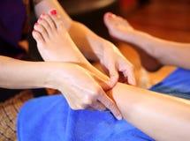 Massage of human foot Stock Image
