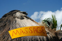 Massage hut in Mexico Royalty Free Stock Photo