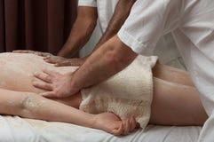 Massage indien de farine Images stock