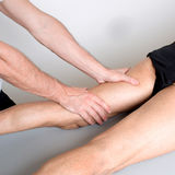 Massage  of the leg Royalty Free Stock Photos