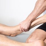 Massage of the leg stock images