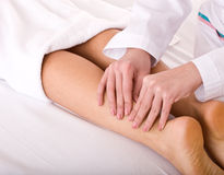 Massage of leg. Spa resort. Stock Photography