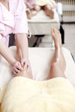Massage legs Royalty Free Stock Photo