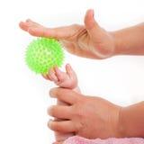 Massage little child Stock Images