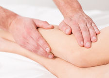 Massage lymphatic drainage therapy Royalty Free Stock Photos