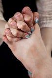 Massage mâle de pied Photo stock