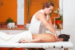 Massage in massage salon Stock Image