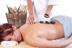 Massage met aloë Stock Fotografie