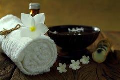Massage och brunnsort. Royaltyfria Foton