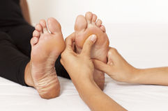 Massage Of A Woman's Foot Stock Photo