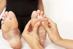 Massage Of A Woman's Foot Stock Photography