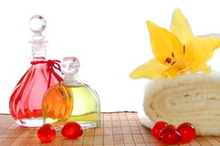Massage oil Stock Image