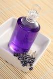 Massage oil. Lavender massage oil - beauty treatment royalty free stock photo