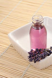 Massage oil. Lavender massage oil - beauty treatment stock photos