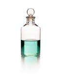 Massage oil bottle. On white background royalty free stock image