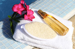 Massage oil and spa spirit Stock Image