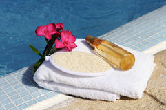 Massage oil and spa spirit Stock Images