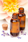 Massage oils Stock Images