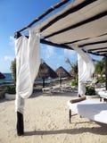 Massage op het strand Stock Foto