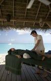 Massage par la mer Photographie stock libre de droits