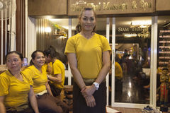 Massage parlor entrance Royalty Free Stock Image