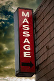 Massage Parlor Sign stock images