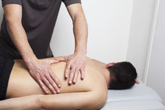 Massage of patients back Stock Image
