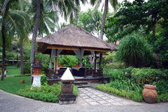 Massage pavilion(Bali, Indonesia) Royalty Free Stock Photo