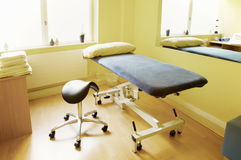 Massage, physiotherapy, acupuncture treatment room Stock Photo