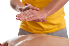 Massage in physiotherapy Royalty Free Stock Image