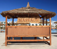 Massage place and blue sky, Egypt. Stock Images