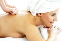 Massage pleasure Royalty Free Stock Photography