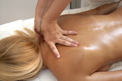 Massage with pretty girls Royalty Free Stock Images