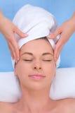 Massage principal Photos libres de droits