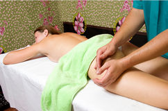 Massage procedure Royalty Free Stock Images