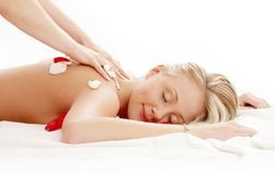 Massage professionnel avec le flux Images libres de droits