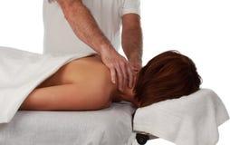 Massage receiving massage Stock Image