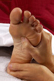Massage Reflexology am Badekurort Stockbild