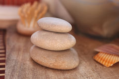 Massage rocks. Calm environment, spa and alternative relaxing therapy royalty free stock images
