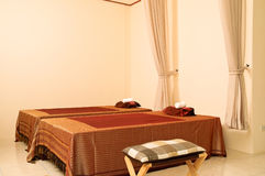 Massage room. Interior of massage room in Thailand stock photos