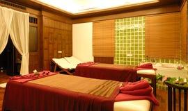 Massage room. Interior of massage room in Thailand Stock Image