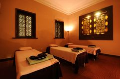Massage room. Chinese-style two-people massage room royalty free stock photography