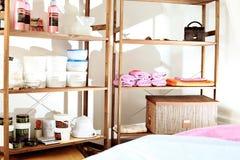 Massage room. Interior of a beauty, spa salon Royalty Free Stock Photos