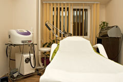 Massage room in beauty spa Stock Photos