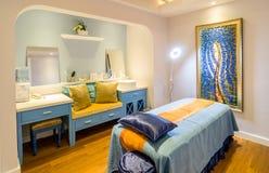 Massage room indoor. Is massage room indoor spa stock photography