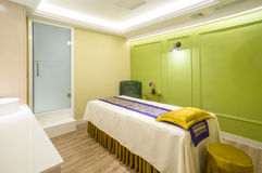 Massage room indoor. Is massage room indoor spa royalty free stock image
