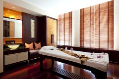 Massage room. Interior of a room for oriental massage Royalty Free Stock Image