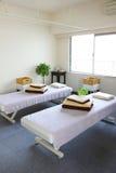 Massage room. Interior of massage treatment room in beauty healthy spa salon royalty free stock photos