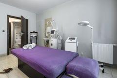 Massage room interior in wellness center Stock Image