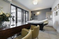 Massage room interior in wellness center Stock Photography